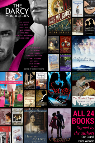 Prize bundle of 24 signed books as part of The Darcy Monologues Blog Tour!