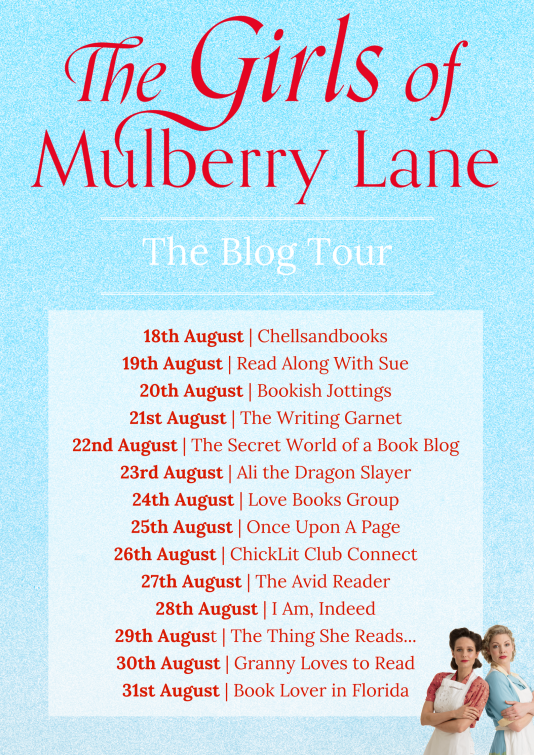 The Girls of Mulberry Lane - blog tour banner