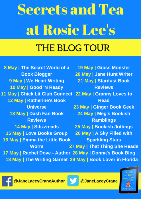 Secrets and Tea at Rosie Lee's blog tour banner