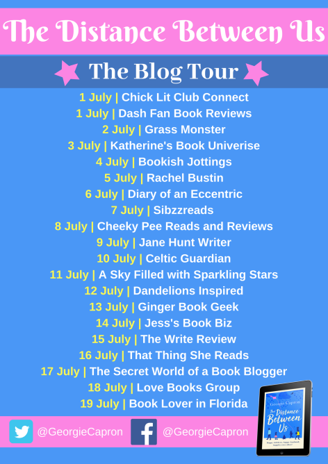 The Distance Between Us blog tour banner